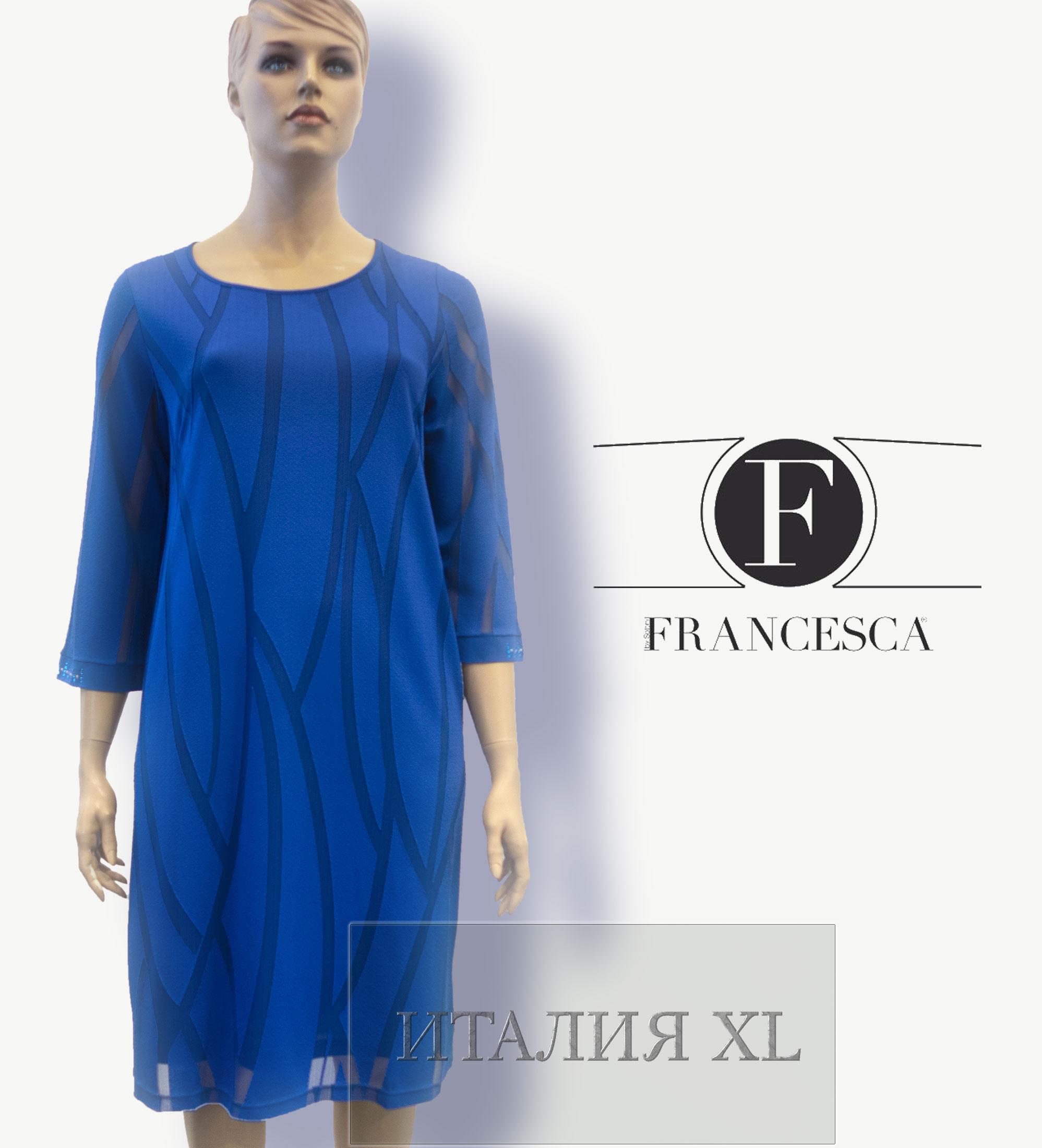 0edf43b7975 Модные платья больших размеров (до 62-го) от Francesca by Sottini